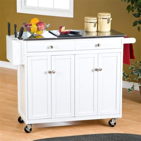 Portable Island Kitchen The Randall Portable Kitchen Island With Optional Stools Contemporary Kitchen Islands And