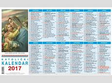 Katolički kalendar 1listovni 2017 3 Svetište MB Tekije