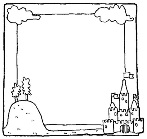 summer picture frame coloring page coloring book