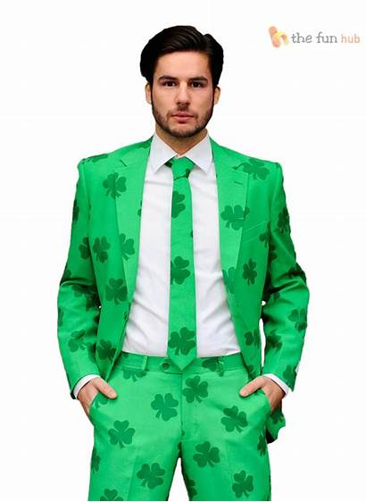 Fancy Suit Crazy Mens Irish Shamrock St