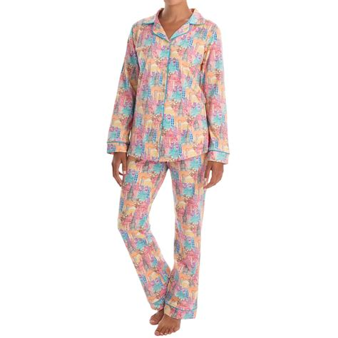 Bedhead Patterned Cotton Knit Pajamas For Women Save 58