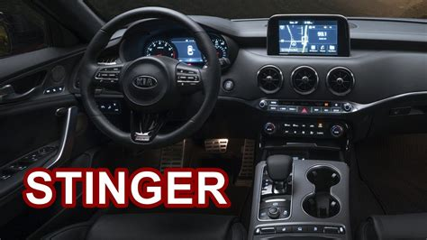 2018 Kia Stinger  Interior Youtube