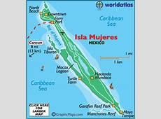Map of Isla Mujeres Caribbean Island Maps, Isla Mujeres
