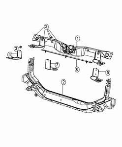 2015 Jeep Patriot Bracket  Cooling Module  System  Remote