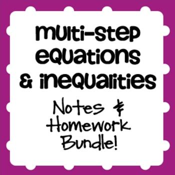 Multi-Step Equations Study Guide