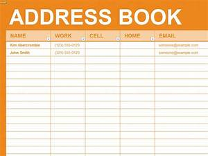 Free excel template personal address book diy for Microsoft excel address book template