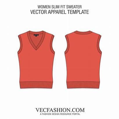 Template Sweater Vest Clipart Sleeveless Neck Vectorified