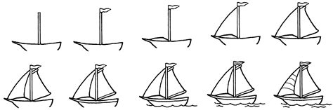 How To Draw A Water Boat by How To Draw A Boat In Water Drawing