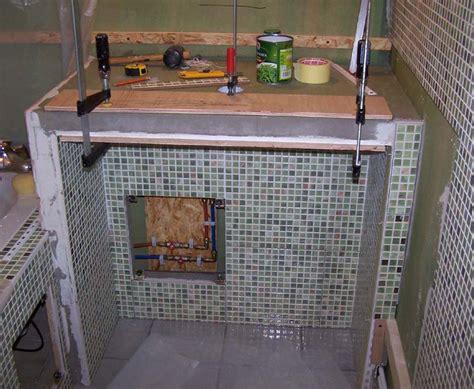 cours de cuisine vannes bati en carreau de platre plan vasque