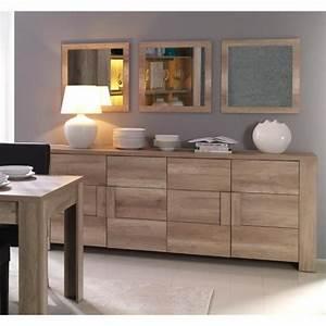 Buffet bahut enfilade moyen modele ferrara 4 portes for Meuble salle À manger avec buffet salle a manger design