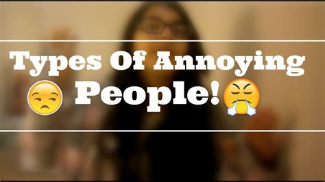 Types Of Annoying People At School