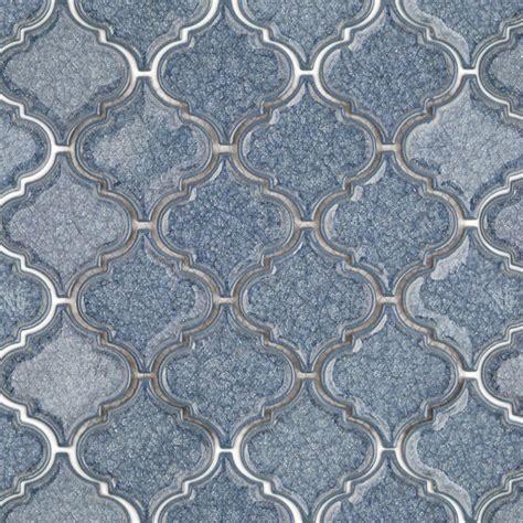 blue arabesque tile roman brisk blue arabesque glass tile