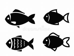 Fish icon stock vector. Illustration of isolated, animal ...
