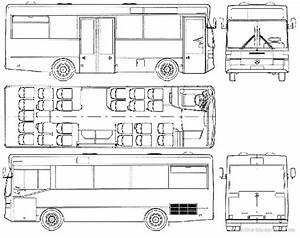 1986 Mercedes-benz O402 Bus Blueprints Free
