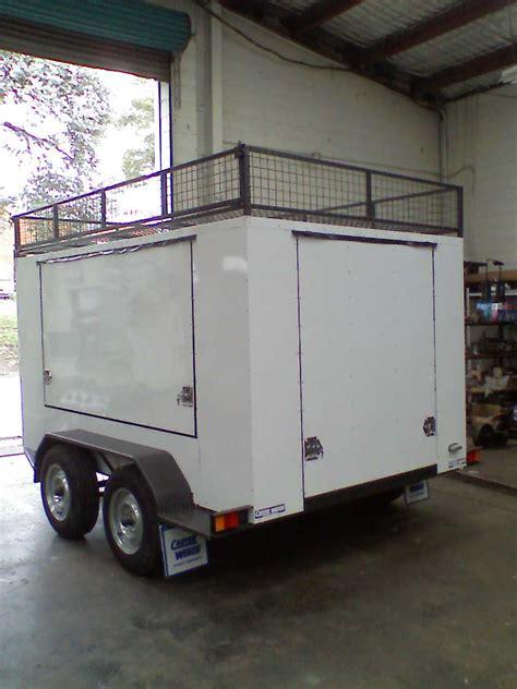bt enclosed tandem machinery trailer carter wesco aust pty