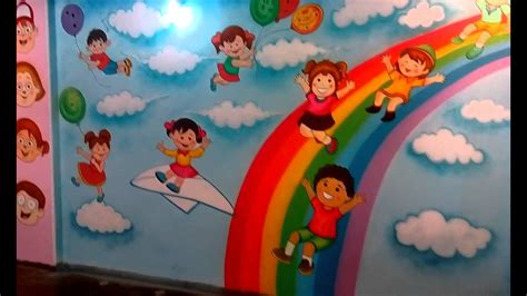 preschool playschool classroom wall theme painting mumbai 249 | maxresdefault