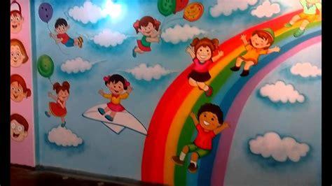 preschool playschool classroom wall theme painting mumbai