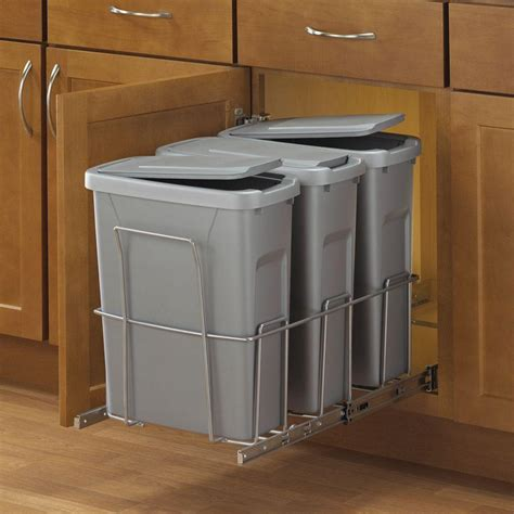 pull out trash cabinet real solutions for real life 18 in h x 14 in w x 23 in