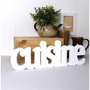 Lettre Decorative Cuisine : mot cuisine poser couleur personnalisable ~ Teatrodelosmanantiales.com Idées de Décoration