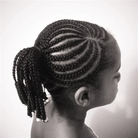 Cornrow Ponytail Hairstyles For by Classic Cornrows Braided Into A Ponytail And Accented With