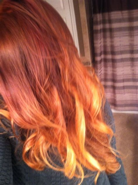 Images Of Ombre Red Hair Color Summer