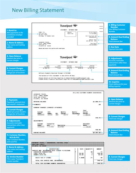 sample billing statement templates excel word