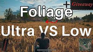 Foliage Low Vs Ultra Will It Make A Difference PUBG
