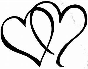 Double Heart Clipart Black And White | Clipart Panda ...
