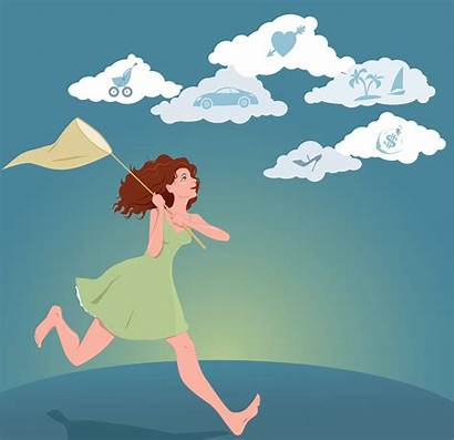 Dreams Woman Pursuing Young Hope Clipart Clip