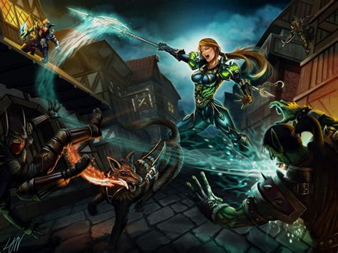 wow hunter night fantasy orc warcraft battle elves axes games deviantart kindred spirits wallpapers13 female game woman wallpapers young