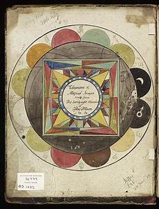 File Astrological Diagram Inside Book Cover  1801 Wellcome