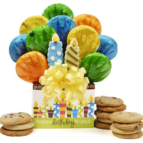 cookie bouquets birthday candles cookie bouquet