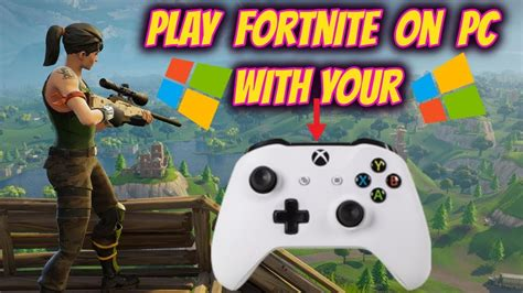 play fortnite  pc  xbox controller youtube