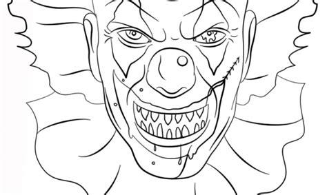 evil clown coloring pages eskayalitim