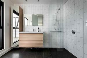18 subway tile bathroom designs ideas design trends for Modern subway tile bathroom designs