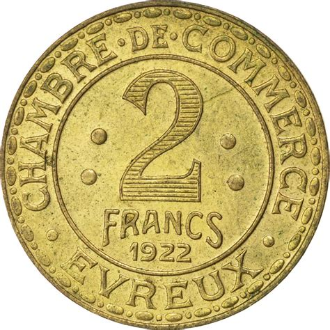 chambre des commerces evreux 85570 evreux chambre de commerce 2 francs 1922 elie 10