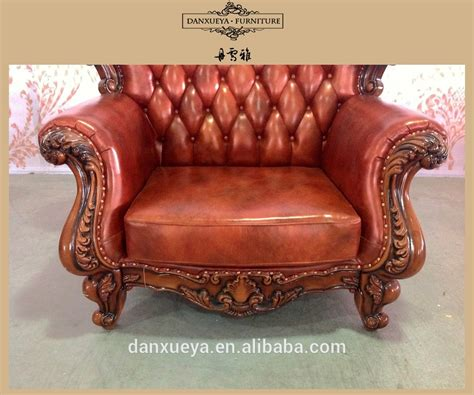 wood frame leather sofa royal wood frame antique green leather sofa view green