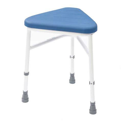 pu padded corner shower stool vat exempt nrs healthcare
