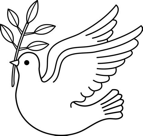 dibujos de la paloma de la paz  colorear simbolo de