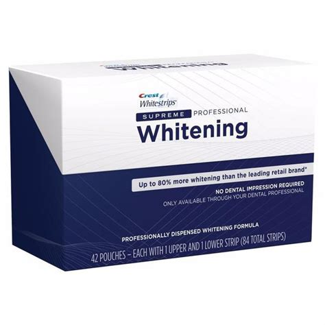 crest whitening strips supreme crest whitestrips supreme teeth whitening not sold in