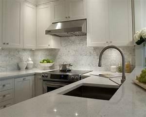White Granite Countertops- Transitional - kitchen ...