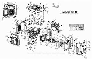 Powermate Formerly Coleman Pm0431800 01 Parts Diagram For