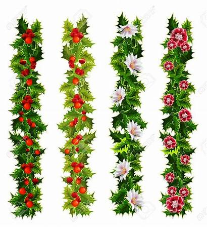 Wreath Garland Holly Christmas Clipart Border Clip