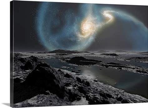The Collision Milky Way Andromeda Galaxies Seen