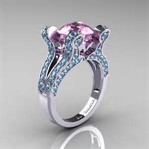 pink engagement ring classicengagementring vintage 14k white gold 3 0 ct light pink sapphire