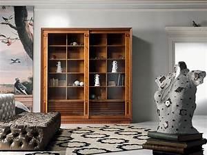 Bücherregal Mit Schiebetüren : bibliothek vitrine mit einlage schiebet ren f r wohnzimmer idfdesign ~ Sanjose-hotels-ca.com Haus und Dekorationen