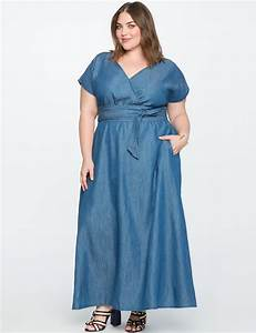 chambray wrap maxi dress eloquii With maxi robe grande taille