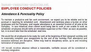 templates for policies procedures employee handbook hr With attendance policy template