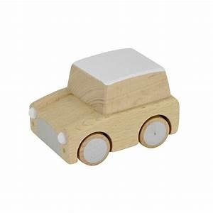 Leo & Bella Kiko+ Kuruma Wooden Toy Car Natural Beech