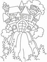 Coloring Pages Castle Fairy Colouring Tale Tales Princess Books Unit Adult Hill Knights Boys sketch template